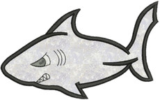 No 900 Applique Shark Machine Embroidery Designs