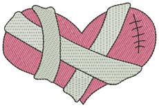No 250A Bandaged Heart Machine Embroidery Designs