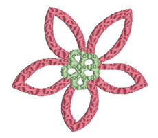 No 33 Retro Flower Machine Embroidery Designs
