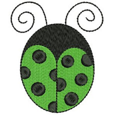 No 462 Ladybug Machine Embroidery Designs