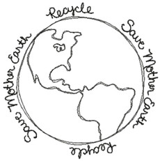 No 463 Save Mother Earth Recycle Machine Embroidery Designs