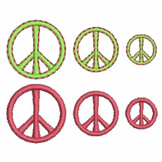No 470 Teeny Peace Sign Machine Embroidery Designs