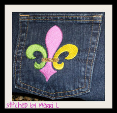 Picture of the Fleur de Lis designs with 2 colors