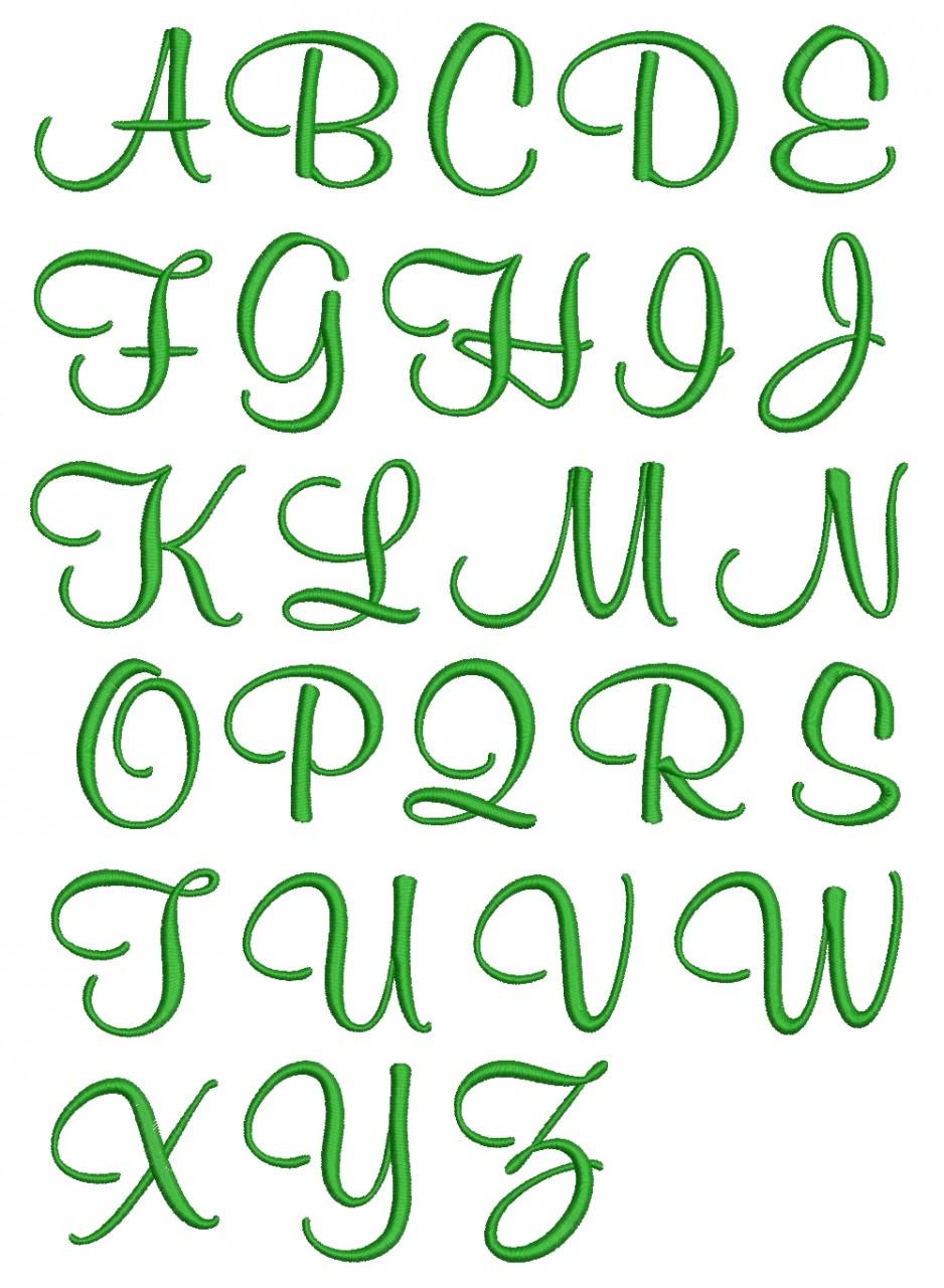 Girly Font Machine Emb...