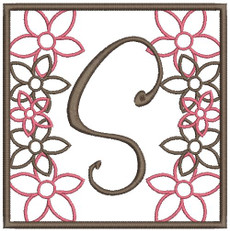 "Shown with ""S"" from my #22 Fun Font Designs"