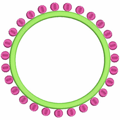 Dotted Frame Embroidery Design