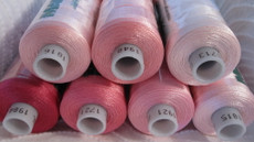 Bundle #4 SHADES of PINK Madeira Polyneon Polyester 40 weight Thread Spools - 1100 yards each