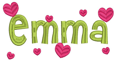 Viola Heart Font Machine Embroidery Designs