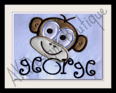 "We used the lowercase letters from our #22 Fun Font to spell ""george"""
