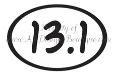 No. V102 13.1 Half Marathon Oval - Ready to Cut Artwork for Vinyl Cutter