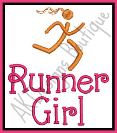 No 496 Runner Girl Embroidery Designs