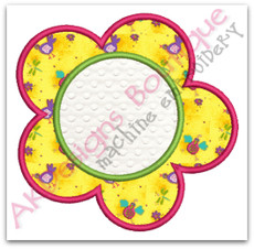 No 980 Applique Flower Machine Embroidery Designs
