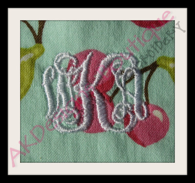 Stitched example ~ WKA Stitched on cotton with 2 sheets of tearaway stabilizer