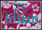 """Example stitched on a towel. The letters used for """"Jillian"""" are not included in this set."""