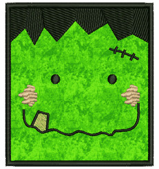 No 117 Franky Applique Frankenstein Halloween Machine Embroidery Designs