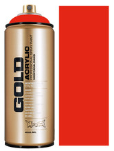 Montana Gold Artist Spray Paint  Shock Orange Dark