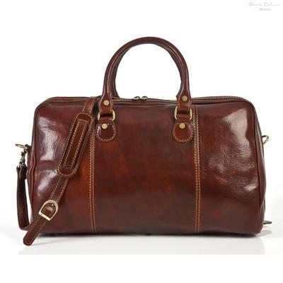 Perugia Duffel Bag | Brown | Adjustable, detachable shoulder strap