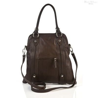 Pesaro Fashionable Ladies Handbag | Front | Color Dark Brown