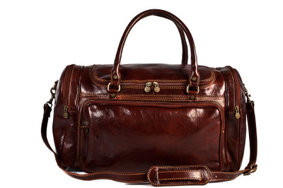 Piana Duffle | Italian Calfskin Leather | Brown