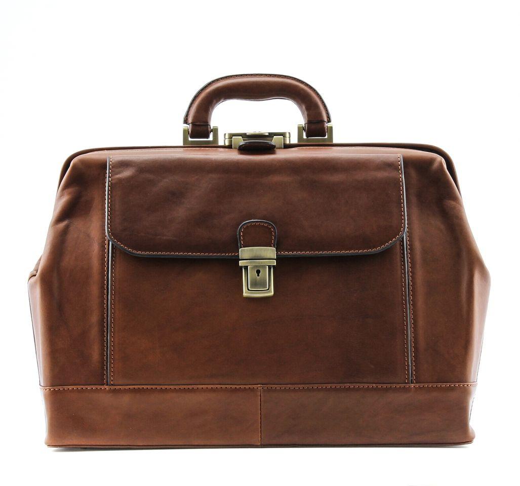 55fa12b900b8 Alberto Bellucci Unisex Italian Leather Bernini Grande Executive Doctor Bag