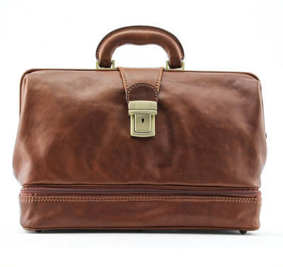 Monaco Grande Exclusive Leather Doctor Bag by Alberto Bellucci  | Made In Italy