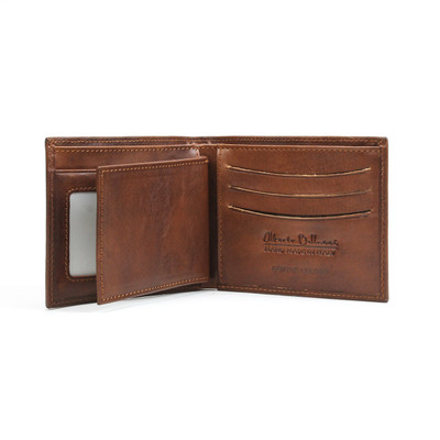 Verona - Billfold with Weekend Wallet Brown | Open