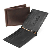 Tuscany - Bill Fold Money Clip Wallet In Brown and Black