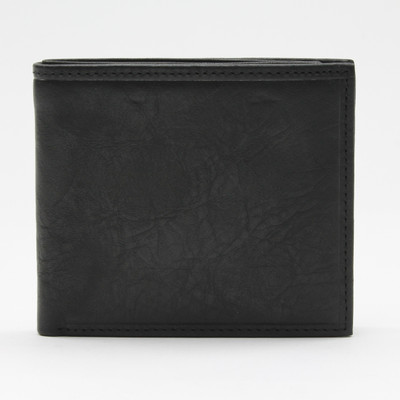 Napoli Bi Fold Wallet with Zipper Compartment Black