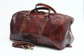 Florentina Italian Leather Travel Bag | Comes with a removable shoulder strap