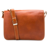 Milano Double Compartment Messenger Shoulder Bag in Honey