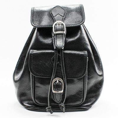 Alberto Bellucci The Bardi Italian Leather Backpack | Black