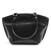 Alexsa Italian Handbag in Black