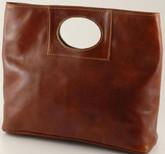 Ivanka Italian Leather Handbag   Color Brown
