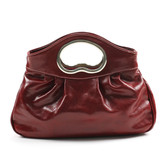 Nicole Italian Leather Handbag - Red