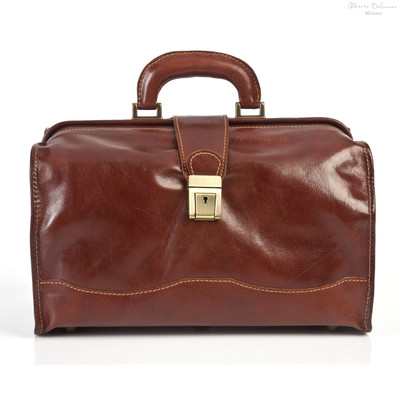 Giotto Italian Leather Bag | Color Brown |