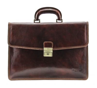 Vernio Single Gusset Briefcase | Color Brown