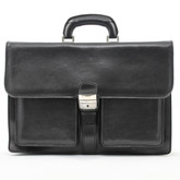 The Roman Brief Bag - In Black