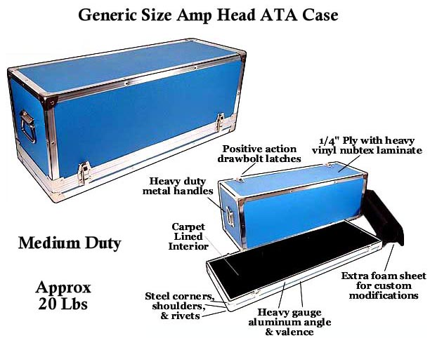 Medium Duty ATA Amp Head Cases