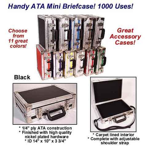 Handy Ata Mini Briefcase 14 Quot X 10 Quot X 3 3 4 Quot