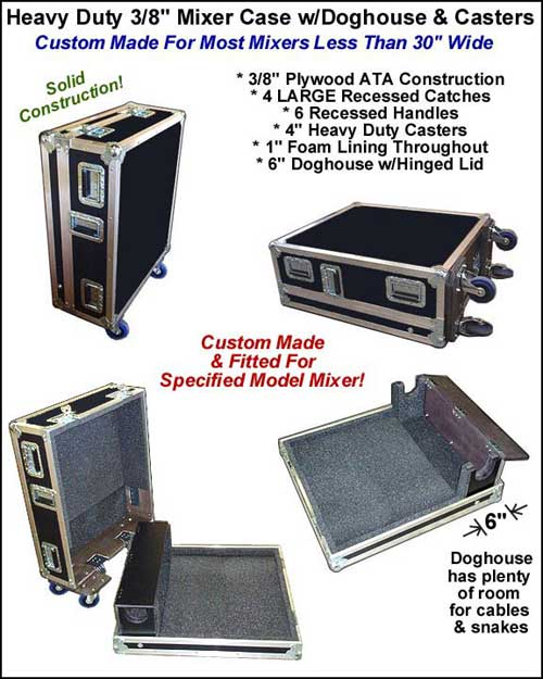 Mixer Case with Doghouse and Wheels