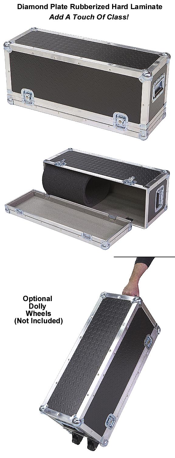Diamond plate laminate 1 4 medium duty ata amp head case for Diamond plate laminate flooring