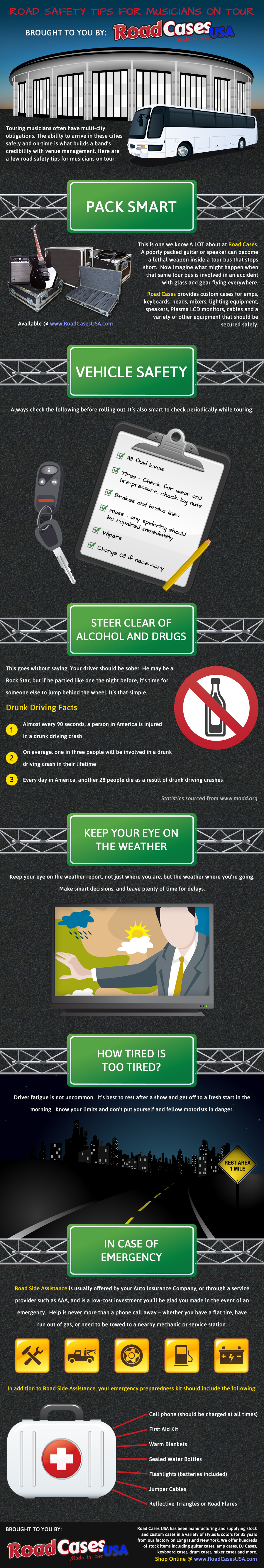 Road Safety Tips Infographic