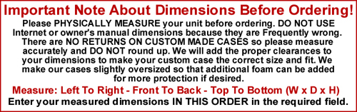 custom case dimensions