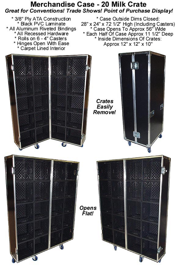 Merchandise case 20 cube milk crates for products for Diamond plate laminate flooring