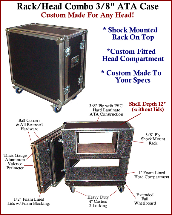 shock rack head combo ATA case