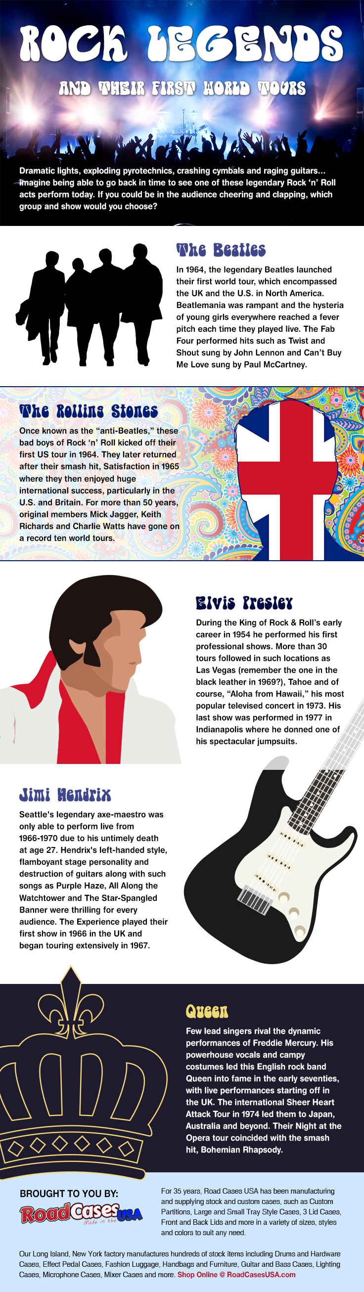 Rock Legends and Their First World Tours