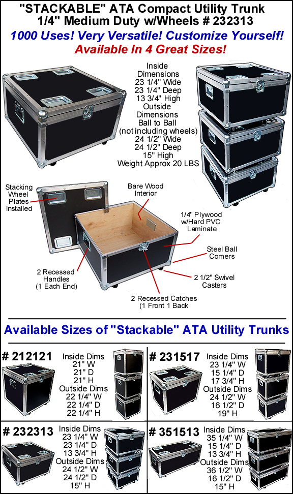 Stackable Utility Trunk with Wheels