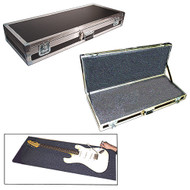 """Guitar & Bass 1/4"""" or 3/8"""" ATA Cases w/Uncut Foam Layers - 3 Sizes!"""