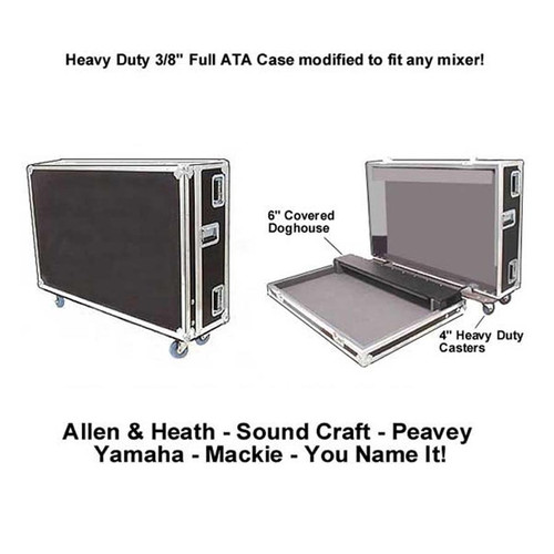 """Heavy Duty 3/8"""" Plywood Mixer Case with Doghouse & Wheels"""