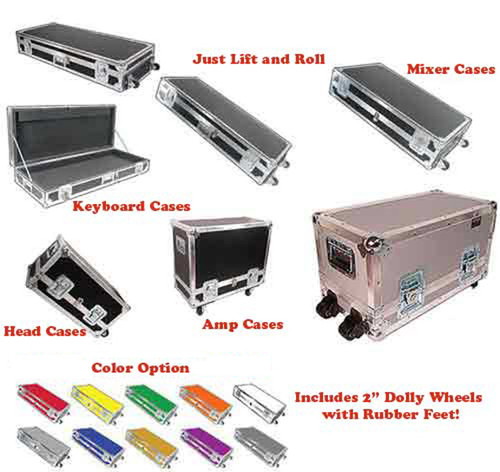 "* Heavy Duty Professional ATA Case Level 4 * Any Keyboard Case - Head Case - Mixer Case - Amp Case - ALL ONE PRICE! (UPS Limit) * Full ATA Heavy Duty 1/4"" Ply Construction * Heavy Duty Wheel & Lock Included Standard Color Black - Colors Optional * Optional Upgrade for 3/8"" Plywood Construction"